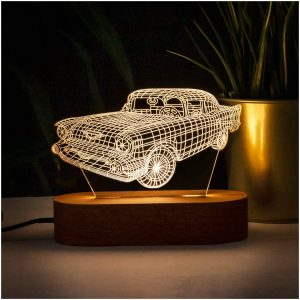 classic car christmas night light gift
