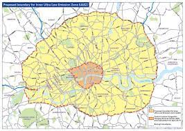 map of extended ULEZ