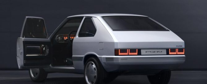 ev Hyundai Pony rear